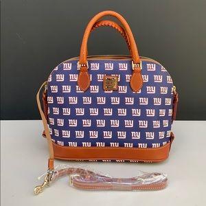 Dooney & Bourke Royal New York Giants zip satchel.